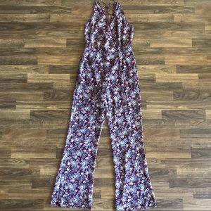Cotton Candy Floral Jumpsuit Size M